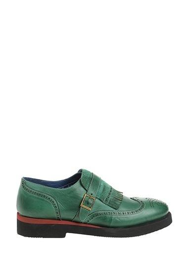Faruk Sağın %100 Deri Casual Ayakkabı Yeşil